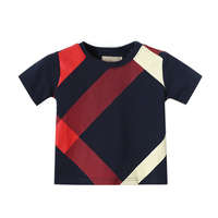PKSAQ Boys Tops Summer 2018 O Neck Short Sleeve Cotton European And American Style Boys Tee