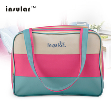 Insular Colorful Stripe Diaper Bag Multifunctional Waterproof Baby Care Nappy Mummy Mother Maternity
