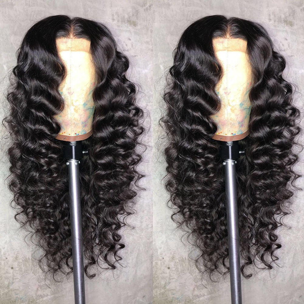 Eversilky Deep Wave Full Lace Human Hair Wigs With Baby Hair 13x6 Deep Part  Lace Front Human Hair Wigs Peruvian Remy Hair Wig