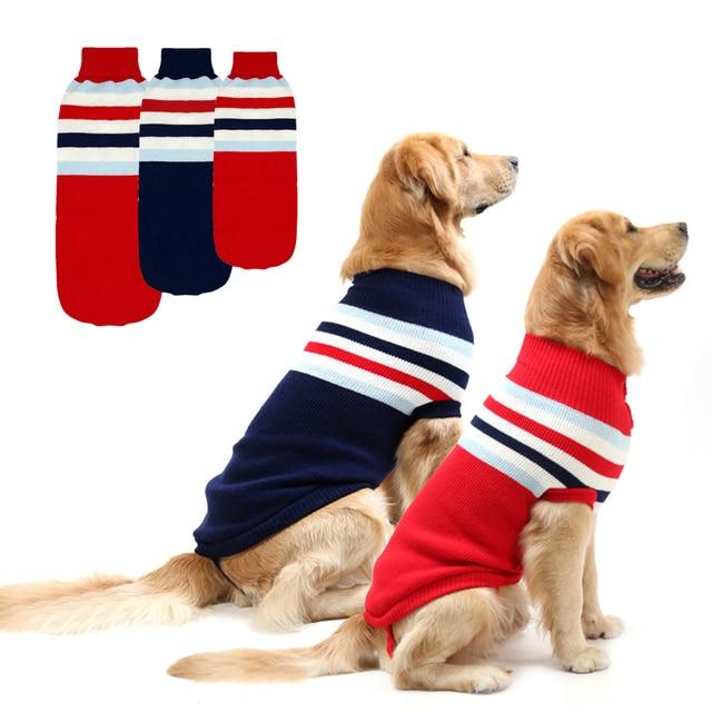 Winter Dog Clothes Large Dog Sweater Medium Pet Coat Clothing Red