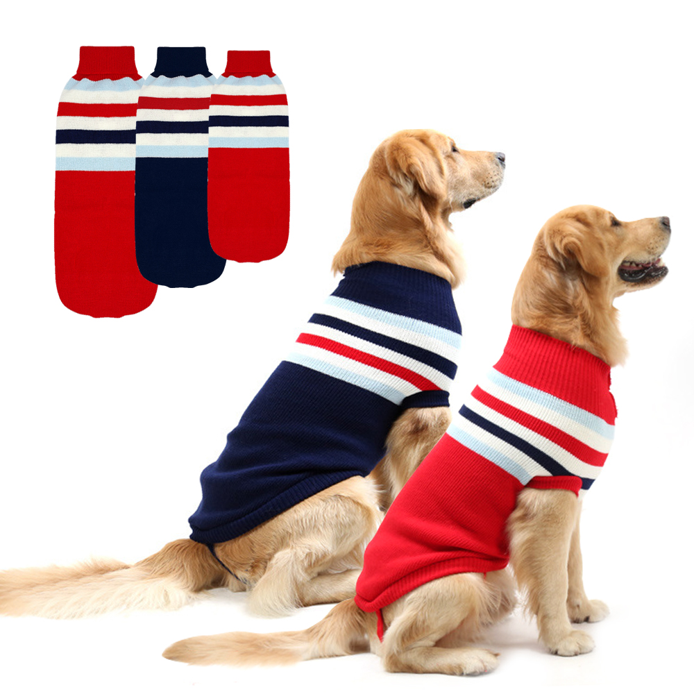 Winter Dog Clothes Large Dog Sweater Medium Pet Coat Clothing Red Blue for Labrador French Bulldog Clothes for Big Dogs