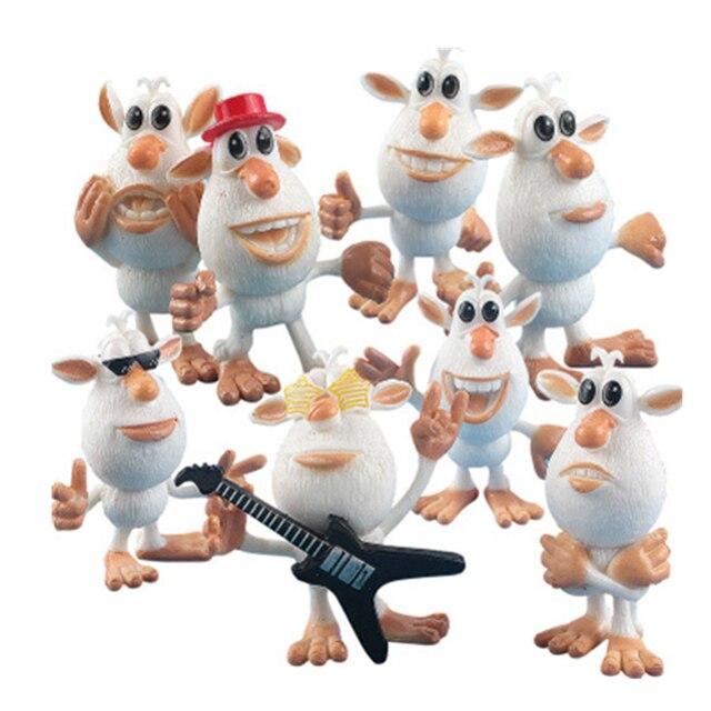 Dos Desenhos Animados russa 8 peças/set Booba Buba Coleções Modelo Figuras de Ação Modelo PVC Brinquedos para As Crianças de Pé Melhor Presentes Genuine