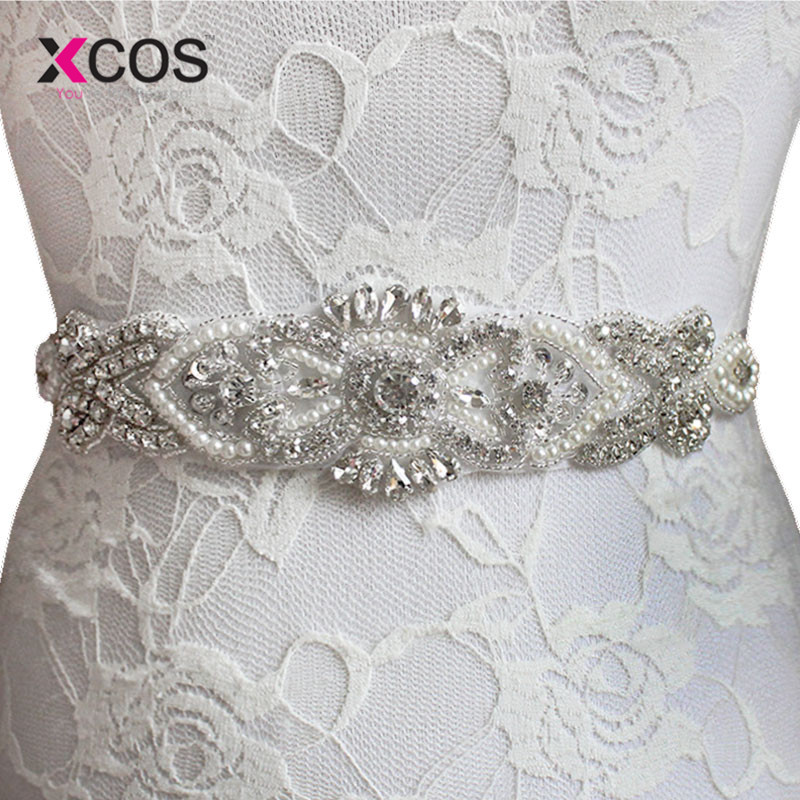 Exquisite Pearl Woman Bridal Sash 2016 Crystal Rhinestone Formal Wedding Gowns Shiny Luxurious Wedding Belts Accessories SA851
