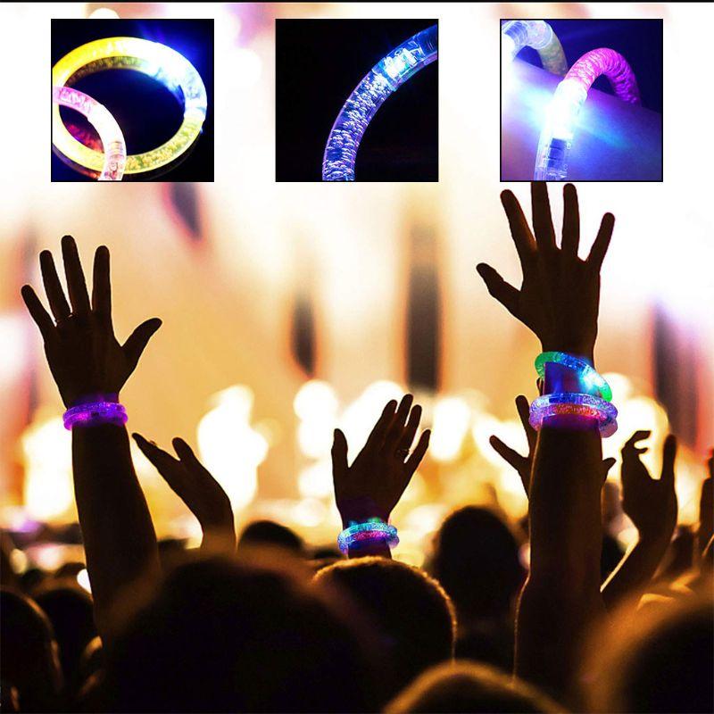 Мигающие светодиодные многоразовые браслеты 40 Pack Премиум свечение отлично подходит для вечеринки Бар Рождество свадьбы дни рождения разно