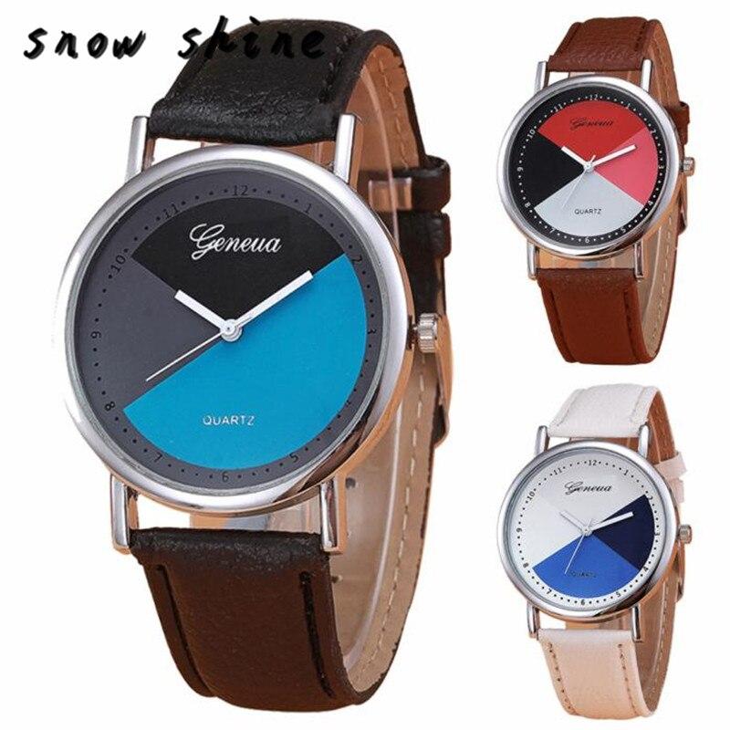 snowshine 10xin New Womens Retro Design Leather Band Analog Alloy Quartz Wrist Watch free shipping