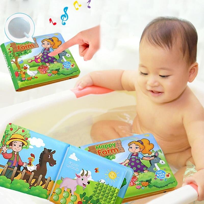 Baby Baby Shower Bath English Cartoon Animal Cloth Book Early Educational Games Toy Developmental Baby Toys