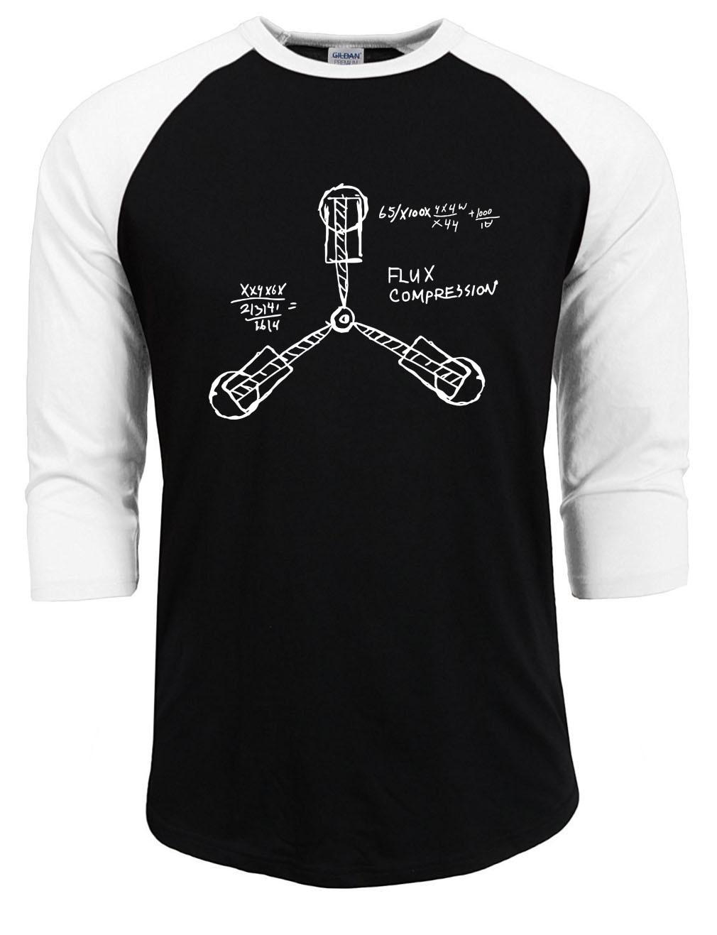 New Stylish Mens T Shirts Back to the Future shirts 100% Cotton Raglan Sleeve Casual Tops Tees Bodybuilding funny t shirt men