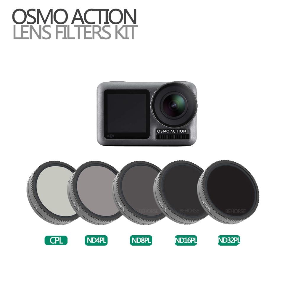 Optioneel OSMO ACTIE Camera Lens Filter Set Optische Glas CPL ND4 PL ND8 PL ND16 PL ND32 PL voor Osmo Action Accessoires-in Sport camcorder Hoesjes van Consumentenelektronica op  Groep 1