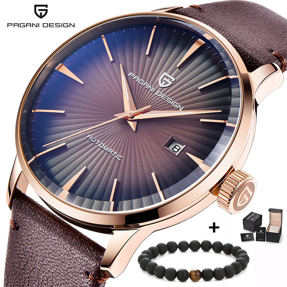 PAGANI DESIGN Top Luxury Brand Men's Automatic Mechanical Watches Waterproof Fashion Simple Business Watch Relogio Masculino garda decor тумба зеркальная
