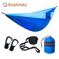 Acehmks Aluminum Alloy Snap Portable Outdoor Hammock Garden Camping Sports Home Travel Garden Hang Bed Double