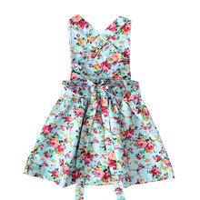Dress For Girls Vintage Toddler Girl Clothing 0-2Yrs
