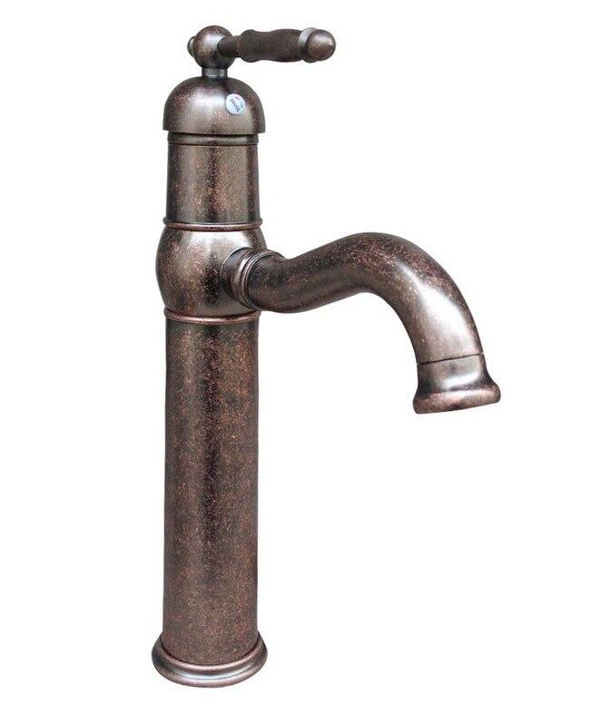 Single Lever Antique Copper Swivel Kitchen Sink bathroom basin Mixer Tap Faucet Cnn018