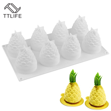 TTLIFE Cake Decoration Mold 8 Pate Mousse with Pine Nuts Kitchen Gadgets Mousse Mold Food Grade Silicone Cake Decorating Moulds