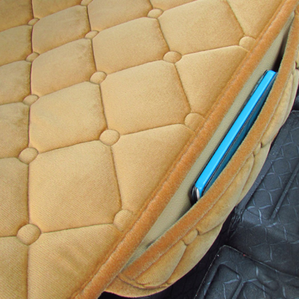Universal Car Seat Cushion Non-Rolling Up Winter Velvet Vehice Interior Car-styling Decorative Seat Cover Car Accessories