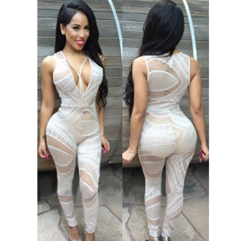 5f522d2b1d1d 2016 New Women Black Blackless Bodycon Jumpsuit Sheer Mesh Patchwork  Elegant Overalls Sexy Club Jumpsuits Rompers. Search on Aliexpress.com by  image