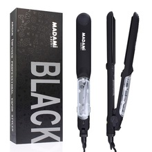 Wholesale prices MADAMI Argan Oil Steam Hair Iron Infusion Spray Vapor Hair Straightener 450F Straightening Irons salon Hair Care Styling Tools
