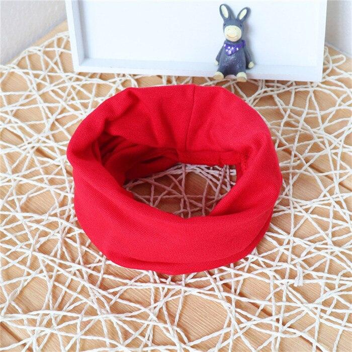 Новинка; Модный хлопковый шарф для маленьких девочек; осенне-зимний шарф для маленьких мальчиков; Детский шарф с круглым вырезом; Детские шарфы; волшебный шейный платок - Цвет: red