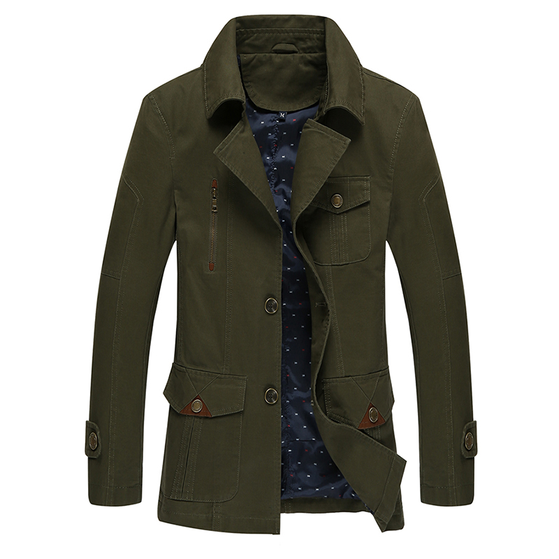 New Autumn Men Trench Coat Fashion Cotton Windbreak Military Jacket Brand Black Mens Overcoat Winter Casaco Masculino