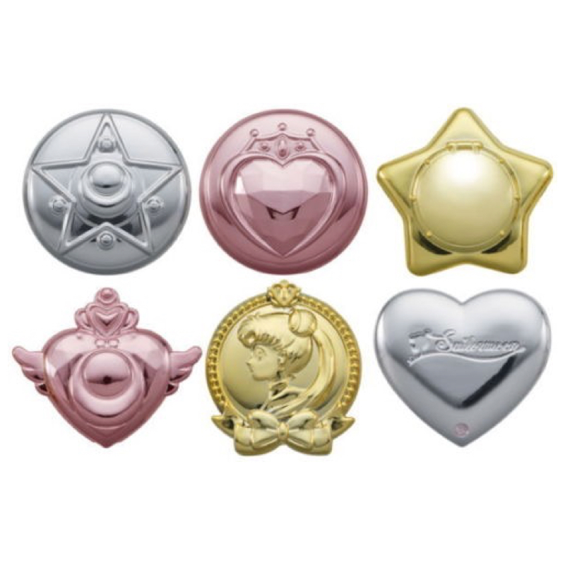 купить Bishoujo Senshi Sailor Moon Compact Make Up Beauty Mirror Gashapon Figure Set 100% Original по цене 1638.58 рублей