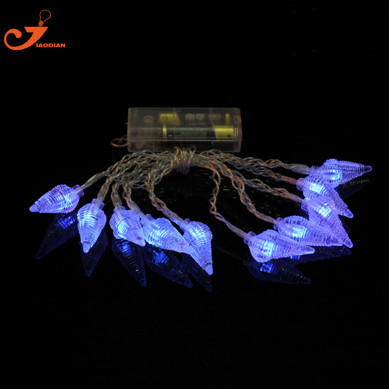 Outdoor String Lights Beach Theme : Sea Snail lights Conch summer lighted Patio lighting white string lights 3V battery powered ...