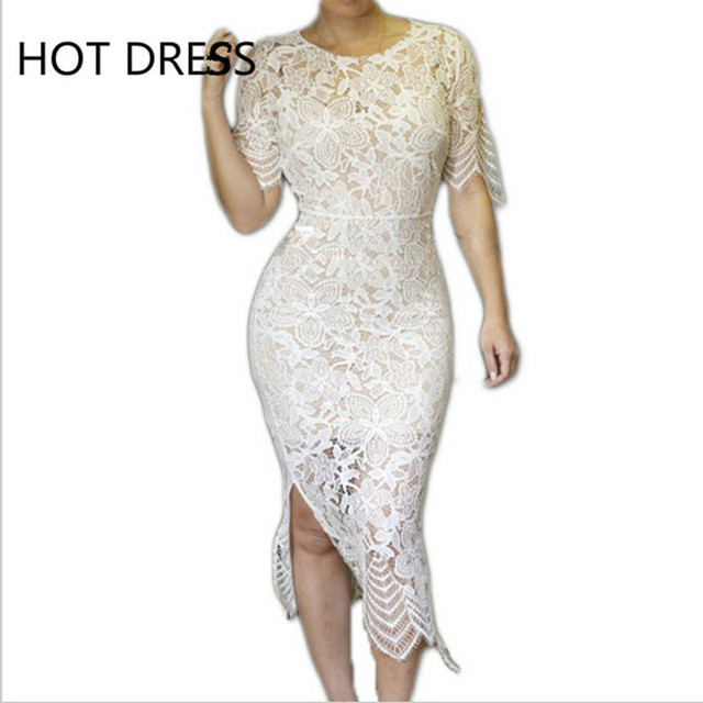 bec3479b7e Hawaiian Crochet Dress Beach Cover Up Sexy Club Bodycon Lace Hollow Out  White Dresses Summer Maxi Dress,Vestidos Midi Long Dress