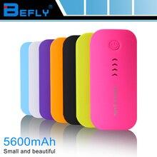 La Forma de la pluma 5600 mAh Power Bank Cargador Portátil Para El Teléfono Móvil de La Batería Externa del Cargador de Batería Para todo El Teléfono Móvil