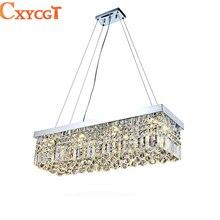 LED Moderno Rectangular Araña de Cristal de Luminaria Restaurante Comedor lámpara colgante de techo para la Sala de Decoración