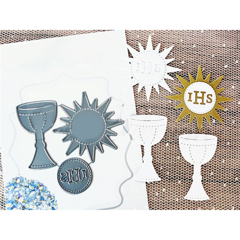 Goblet Metal Cutting Dies Invitations Cards Scrapbooking Paper Craft Decoration