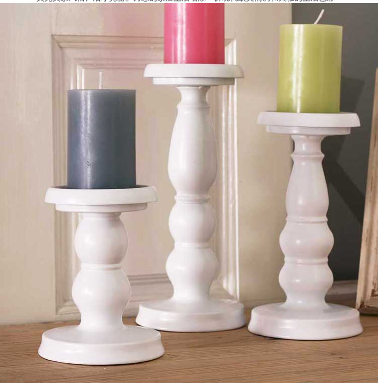 Iron Metal Candle Holder Set Pillar Candle Stand For Home