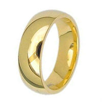 Tailor Made Gold Titanium Ring Plain Engagement Band US Size 3 18 TR01G
