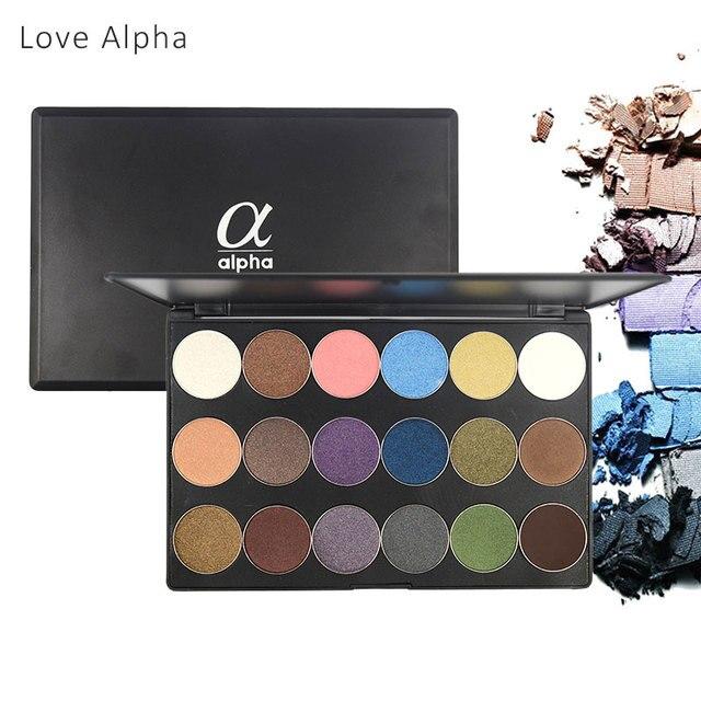 LOVE ALPHA Eyes Makeup 18 Colors Eye Shadow Palette Shimmer Matte Natural Light Eyeshadow Naked Make Up Long-Lasting Glitter