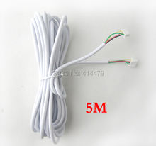 4 Core 5 Meter Video Audio Access Control Cable For Home Video Door Phone Intercom System