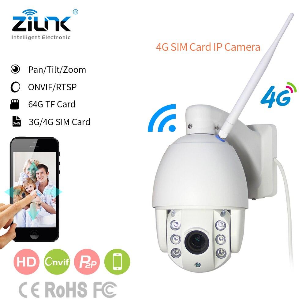 ZILNK 3G/4G/WIFI IP Caméra Dôme de Vitesse Caméra PTZ Full HD 1080 P P2P Réseau 2.7-13.5mm Zoom IR Vision Nocturne En Plein Air CamHi
