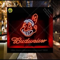 Budweise Neon Sign neon bulbs Sign neon lights for Beer Bar Pub Decor Room glass Tube Handcraft Lamps Iconic Sign store Display