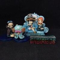NOWY gorący 5-10 cm 4 sztuk/zestaw 20th One Piece Luffy Nami Nico Tony Robin Action figure zabawki lalki kolekcja prezent na Boże Narodzenie z box