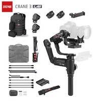 Estabilizador de cámara de laboratorio ZHIYUN Crane 3, doble Zoom y enfoque 3 ejes Gimble para Nikon D850 Sony A9 A7R Canon 1DX GH5 Gimbal de mano