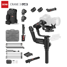 ZHIYUN Crane 3 Lab Camera Stabilizer,Dual Zoom and Focus 3 Axis Gimble for Nikon D850 Sony A9 A7R Canon 1DX GH5 Handheld Gimbal