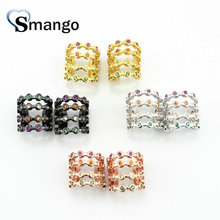 5Pairs, Women Fashion Jewelry,The Rainbow Series,The Multideck Circle Shape Ear Clip.4 Colors,Can Wholesale