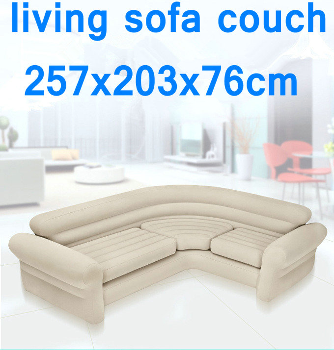 Original authentique INTEX double coupé canapé gonflable paresseux canapé-lit d'angle coucher de soleil inclinable, salon air canapé canapé