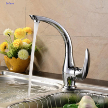 Dofaso kitchen faucet hot and cold basins tap can rotate the faucet Stainless steel kitchen sink crank faucets