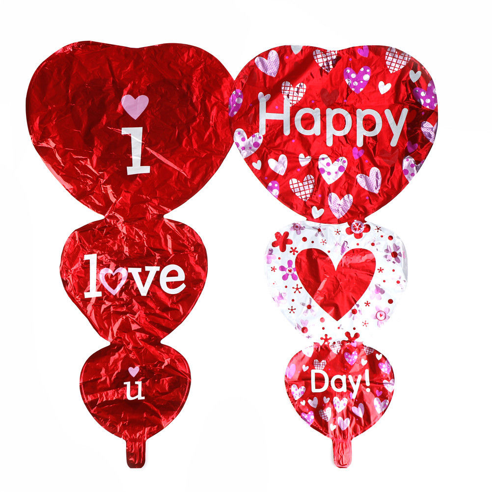 Hot Sale I Love You and Happy Day Balloons Party Decoration Heart ...