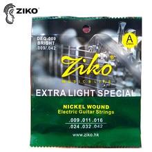 ZIKO DEG 009-042 سلاسل الجيتار الكهربائية Nickel Wound Extra Light سلاسل خاصة أجزاء الغيتار الموسيقية