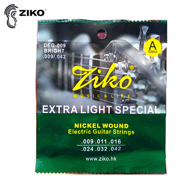 цена на ZIKO DEG 009-042 Electric guitar strings Nickel Wound Extra Light Special strings musical instrument guitar accessories parts