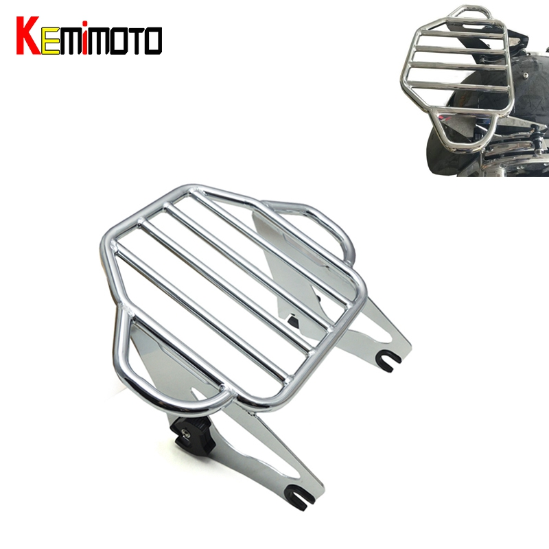 Motorcycle Moto Parts Chrome Detachable Two Up Tour Pak Mounting Luggage Rack For Harley Touring 2009-2016 partol black car roof rack cross bars roof luggage carrier cargo boxes bike rack 45kg 100lbs for honda pilot 2013 2014 2015