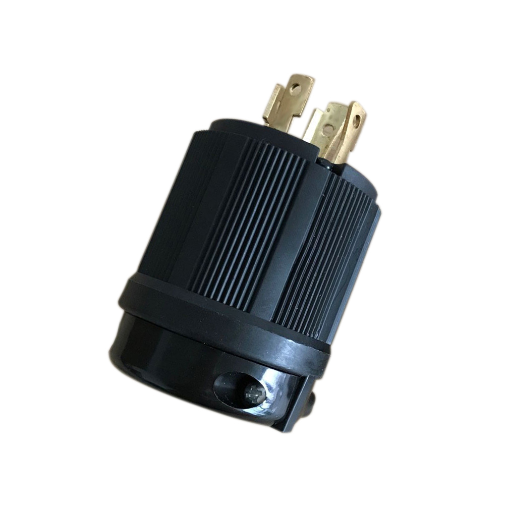Socket Plug Connector 30A For Generator Cord Assembly Nickel-plated Brass