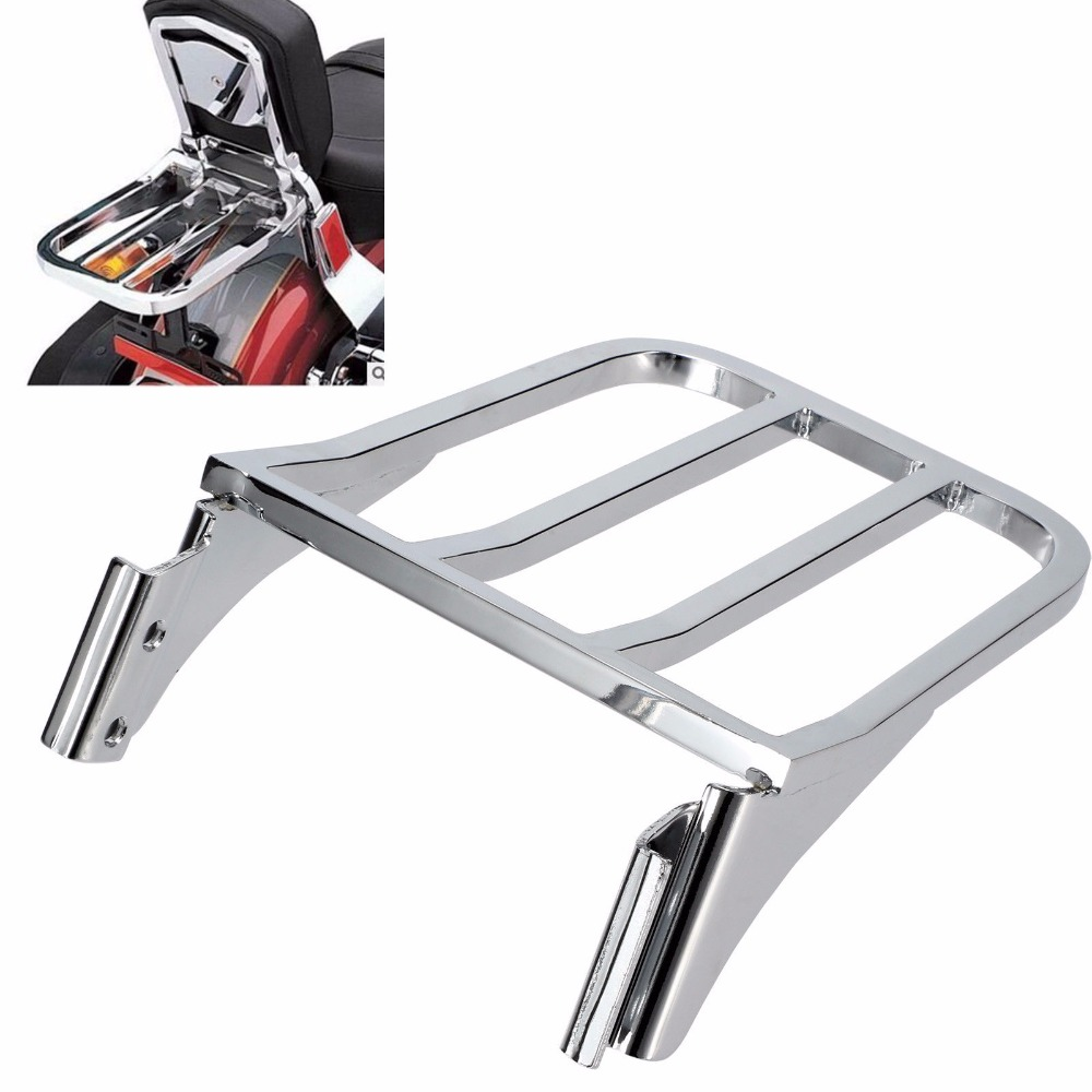 Chrome Motorcycle Backrest Sissy Bar Luggage Rack For Harley Sportster 883 1200 XL883 XL1200 Heritage Softail FLST DynaChrome Motorcycle Backrest Sissy Bar Luggage Rack For Harley Sportster 883 1200 XL883 XL1200 Heritage Softail FLST Dyna
