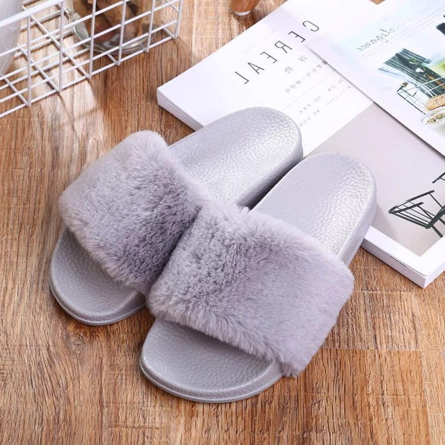 9237e400956a Online Shop Slippers Womens Zapatos Mujer Ladies Slip On Sliders ...
