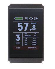 Купить с кэшбэком Livraison gratuite E-velo 24 v/36 v/48 v KT LCD8S Couleur Matrice Affichage Compteur Intelligent de Controle panneau Avec 5 Pins
