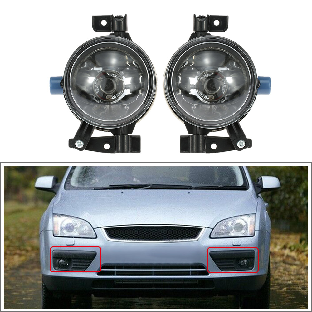 1 Pair of Auto Fog Lights Car Front Lower Side Bumper Lamp H11 Easy Install Direct Bolt-on Car Styling for Ford Focus 2005
