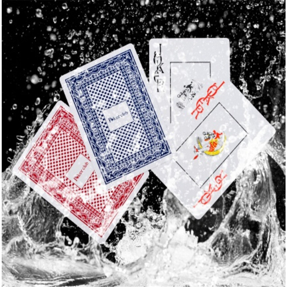 Playing Cards: Hot Sale Durable Waterproof Poker Plastic Playing Cards Poker Set Funny Board Game Baralho Toy For Adult Party Game Random Color